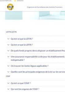 FAQ OSIF – LSFin et LEFin