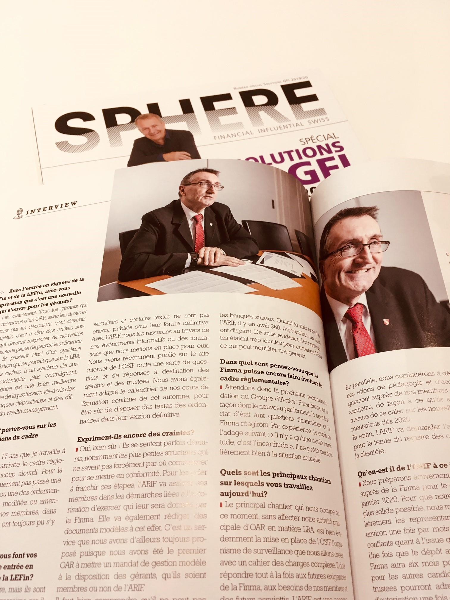Retrouvez l'interview de Norberto Birchler, directeur de l'ARIF, dans le dernier numéro de Sphère
